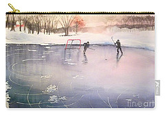 Playing On Ice Carry-all Pouch