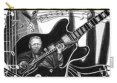 Playing With Lucille - Bb King Carry-all Pouch by Peter Piatt