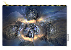 Carry-all Pouch featuring the digital art Pleasant Effusion by Casey Kotas