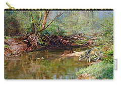 Pleasure Of  The Enchanted Wolf Carry-all Pouch by Svitozar Nenyuk
