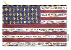 Pledge Flag Carry-all Pouch
