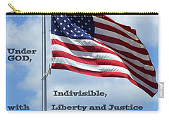Pledge Of Allegiance Carry-all Pouch by Paul  Wilford