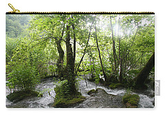 Carry-all Pouch featuring the photograph Plitvice Lakes by Travel Pics