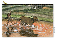 Plowing The Ricefield Carry-all Pouch