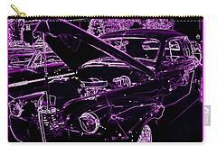 Carry-all Pouch featuring the digital art Plum Perfect by Bobbee Rickard
