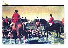 Carry-all Pouch featuring the photograph Plum Run Hunt Opening Day by Angela Davies