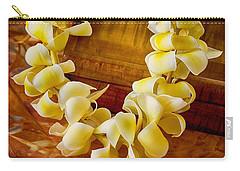Plumeria Lei On Koa Box Carry-all Pouch