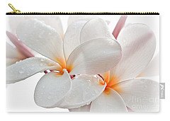Carry-all Pouch featuring the photograph Plumeria by Roselynne Broussard
