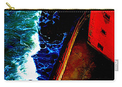 Plunging From Golden Gate Carry-all Pouch by Holly Blunkall