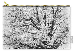 Carry-all Pouch featuring the photograph Poetry Tree by Roselynne Broussard