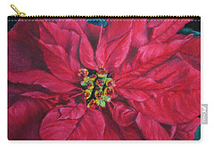Poinsettia II Painting Carry-all Pouch