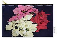 Poinsettia Tricolor Carry-all Pouch