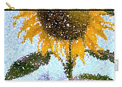 Pointillist Sunflower In Sun City Carry-all Pouch