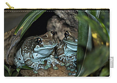 Poisonous Frogs With Sticky Feet Carry-all Pouch by Thomas Woolworth