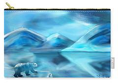 Polar Bear Carry-all Pouch by Frank Bright
