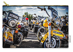 Carry-all Pouch featuring the photograph Police Motorcycle Lineup by Eleanor Abramson