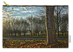 Carry-all Pouch featuring the photograph Pollard Willows In Rotterdam by Frans Blok