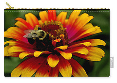 Carry-all Pouch featuring the photograph Pollenating Bumblebee by James C Thomas