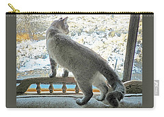 Carry-all Pouch featuring the photograph Pawli Surveys His Domain by Lenore Senior and Dawn Senior-Trask