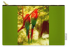 Carry-all Pouch featuring the photograph New Orleans Polly Wants Two Crackers At New Orleans Louisiana Zoological Gardens  by Michael Hoard