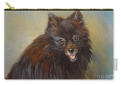 Carry-all Pouch featuring the painting Pomeranian by Jenny Lee