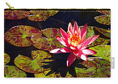 Carry-all Pouch featuring the photograph Pond Lily by Nick Kloepping