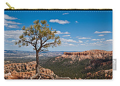 Carry-all Pouch featuring the photograph Ponderosa Pine Tree Clinging To Life On Canyon Rim by Jeff Goulden