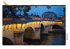 Pont Neuf Bridge - Paris France I Carry-all Pouch by Georgia Mizuleva