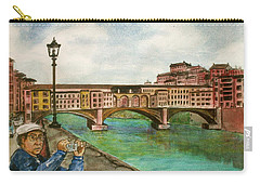 Ponte Vecchio Florence Italy Carry-all Pouch by Frank Hunter