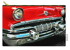 Carry-all Pouch featuring the photograph Pontiac Grill by Victor Montgomery