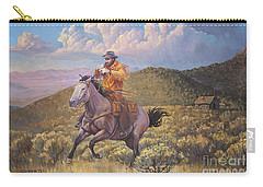 Pony Express Rider At Look Out Pass Carry-all Pouch