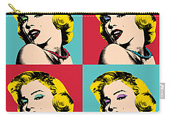 Pop Art Collage  Carry-all Pouch by Mark Ashkenazi