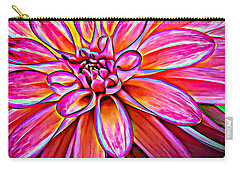 Pop Art Dahlia Carry-all Pouch