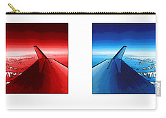 Carry-all Pouch featuring the photograph Red Blue Jet Pop Art Planes  by R Muirhead Art
