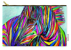 Pop Art Zebra Carry-all Pouch