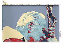 Pope John Paul II Carry-all Pouch by Jean luc Comperat