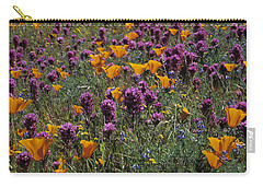 Poppies And Owl Clover Carry-all Pouch by Susan Rovira
