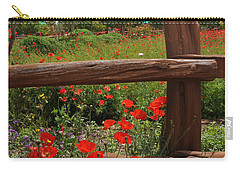 Poppies At The Farm Carry-all Pouch by Lynn Bauer