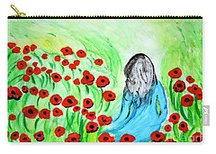 Poppies Field Illusion Carry-all Pouch