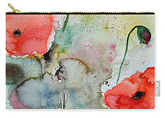 Poppies - Flower Painting Carry-all Pouch