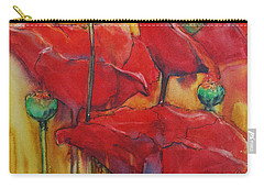 Secondary Colors Mixed Media Carry-All Pouches