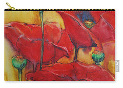 Carry-all Pouch featuring the painting Poppies IIi by Jani Freimann
