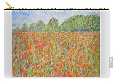 Poppies In A Field In Afghanistan Carry-all Pouch