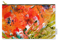 Poppies In A Hurricane Carry-all Pouch by Beverley Harper Tinsley