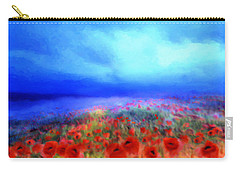 Poppies In The Mist Carry-all Pouch