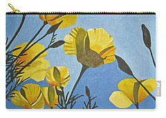 Poppies In The Sun Carry-all Pouch by Donna Blossom