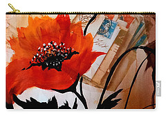 Poppies On Letters Carry-all Pouch