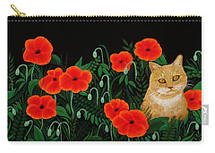 Poppy Cat Carry-all Pouch