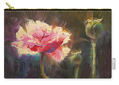 Poppy Glow Carry-all Pouch by Karen Whitworth