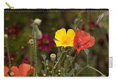 Carry-all Pouch featuring the photograph Poppy Love by Mark Greenberg